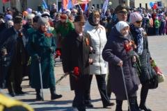 Ветераны города Лангепаса перед возложением цветов