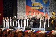 Вручение гвоздик ветеранам ПК Обелиск