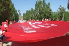 На Мамаевом кургане со Знаменем Победы