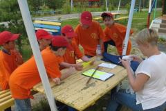 Команда лагеря Пятиборец на этапе Полевой госпиталь