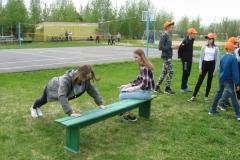 Отжимание от скамейки на этапе силовая гимнастика