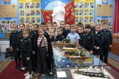 2 кадетский класс школы №4 в военно-историческом музее Боевой Славы