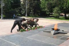 Возложение цветов к Вечному Огню 22 июня