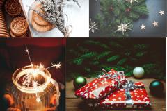 Синий Фейерверк Поздравление с Новым Годом Публикация в Facebook