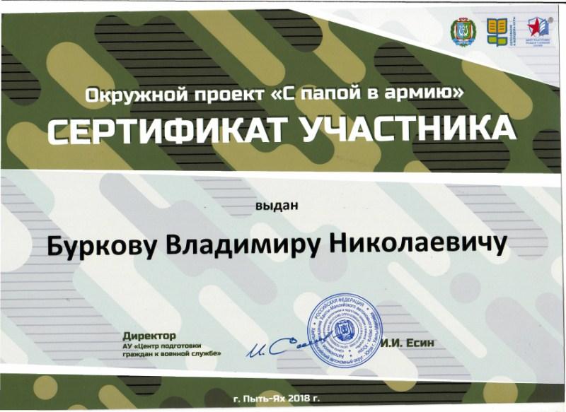 Сертификат Бурков