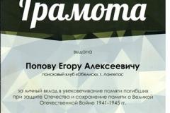 Грамота Попову Егору [DVD (NTSC)]