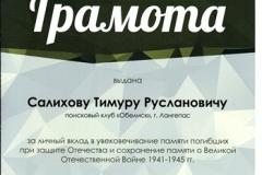 Грамота Салихову Тимуру [DVD (NTSC)]