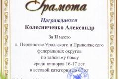 грамота Колисниченко А